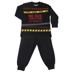 Fun2wear jongens pyjama 'Do not disturb' zwart